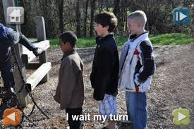 Kids waiting at playground